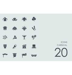 Set of carnival icons vector