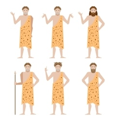 Set of Cavemen vector image