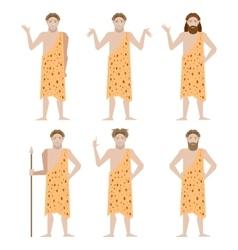 Set of Cavemen vector