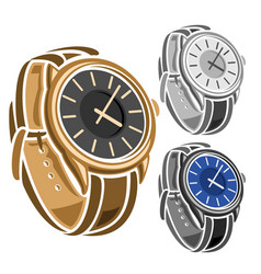 set wrist watches vector image