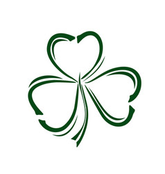 Shamrock trifoliate clover doodle style icon vector