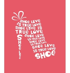 shoe from quotes vector image