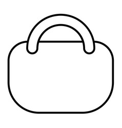 shopping bag thin line icon handbag vector image
