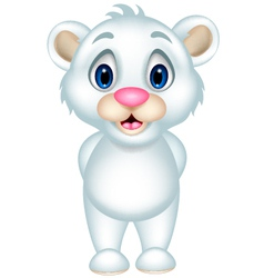 Smiley Polar bear standing vector image