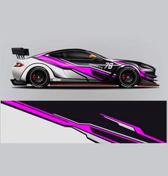 sport car racing wrap design design vector image