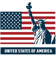 Statue liberty usa vector