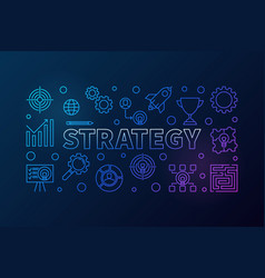 strategy outline creative banner or vector image