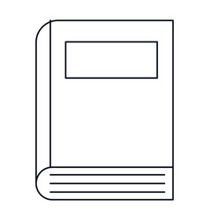 Text book isolated icon vector