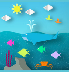 Underwater paper word vector