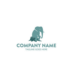 Unique elephant logo vector