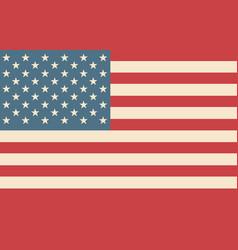 usa flag american vector image