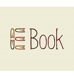 Vintage digital book text vector