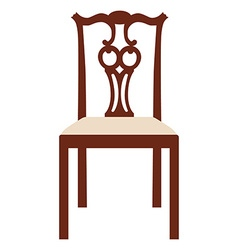 Vintage elegant chair vector image