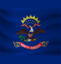 Waving flag north dakota vector