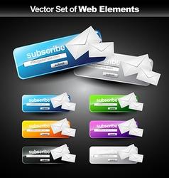web subscribe button vector image