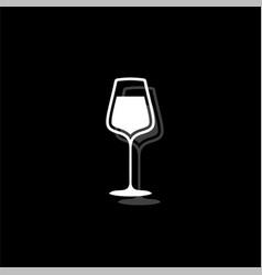 wineglass icon flat vector image
