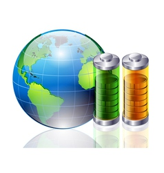 World and battery vector