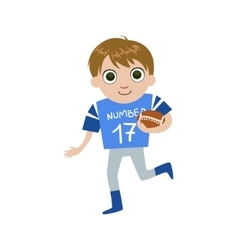 Young football player vector