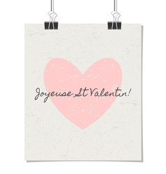 French st valentines day poster vintage design vector