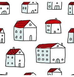 Houses seamless pattern vector image