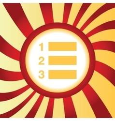 Numbered list abstract icon vector