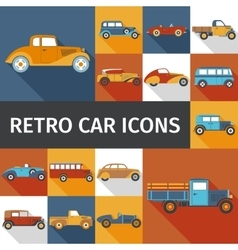 Old Cars Set vector image