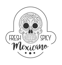restaurant fresh and spicy mexican food menu promo vector image vector image