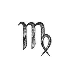 hand drawn virgo zodiac sign vector image vector image