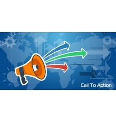 Long Web Background - Call To Action vector image
