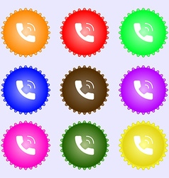 Phone icon sign Big set of colorful diverse vector image
