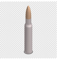 photorealistic cartridge with a bullet in vector image vector image