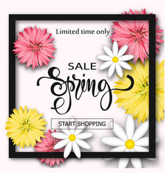 sale background with flowers season discount vector image