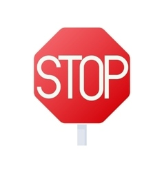 Stop sign icon cartoon style vector image vector image