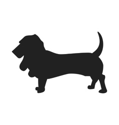 Basset Hound Silhouette vector image vector image