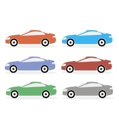 Colorful Icon Cars vector image vector image