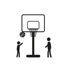 Summer sports icon - basketball vector image vector image