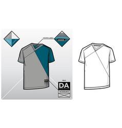 tech sketch of a t-shirt vector image vector image