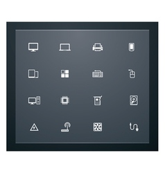 technology related pictograms vector image vector image