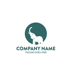 unique elephant logo vector image