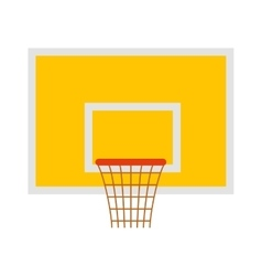 Basketball hoop sport basket game play competition vector image vector image