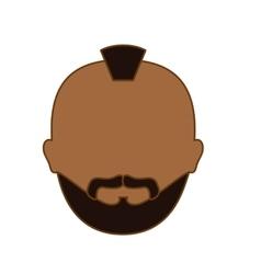 color criminal man face icon vector image
