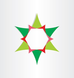 green star with text box design element vector image vector image