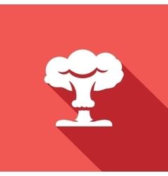 Mushroom cloud nuclear explosion icon vector image