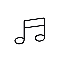 music note isolated icon design vector image vector image