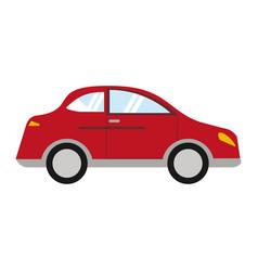 red car sedan vehicle transport vector image