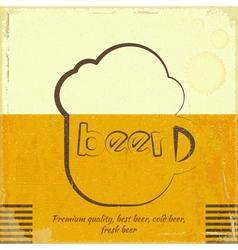 Retro Beer Card vector image