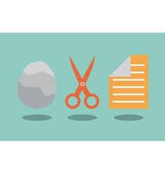 Rock scissors and paper vector image vector image