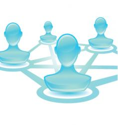 user network blue vector image vector image