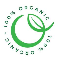 100 organic product icon logo vector