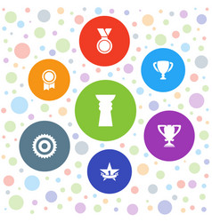 7 reward icons vector image